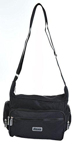 Siena (Aspen) facile à accrocher en bandoulière Voyage sac à main 9197 Noir - Noir
