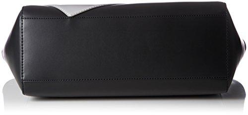 BORSA DONNA LOVE MOSCHINO CALF SHOPPING COLORE NERO CUORE SILVER B18MO72 Multicolore (Black/silber)