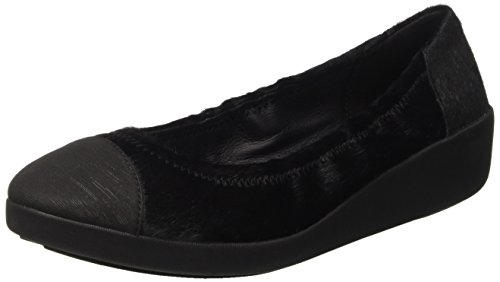 Fitflop F-Pop Tm Interest, Ballerine Donna Nero (Black)