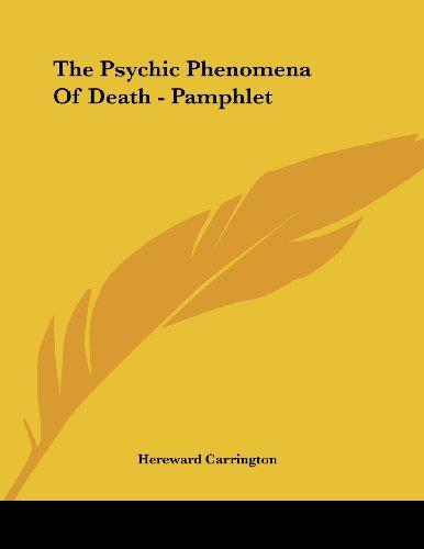 The Psychic Phenomena of Death - Pamphlet