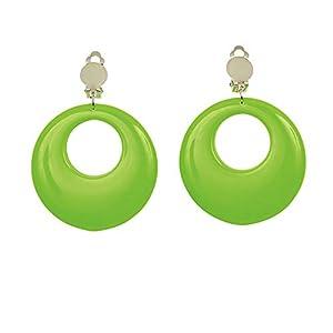 WIDMANN 05840Neon Pendientes, mujer, Verde, One size