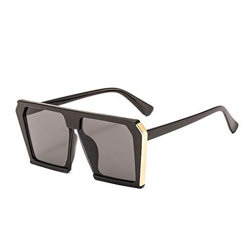 HYUHYU Rechteck Mode Sonnenbrillen Frauen Transparente Rahmen Sunglases Männer Retro Sonnenbrille Foe Weibliche Flache Top Shades
