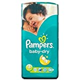 Pampers Baby Dry taille 3 (4–9 kg) x 52 par paquet