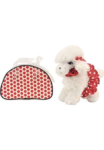 Dimian Plüsch Stoff-Hund mit Tasche Chihuahua Pudel 653062 rot weiß