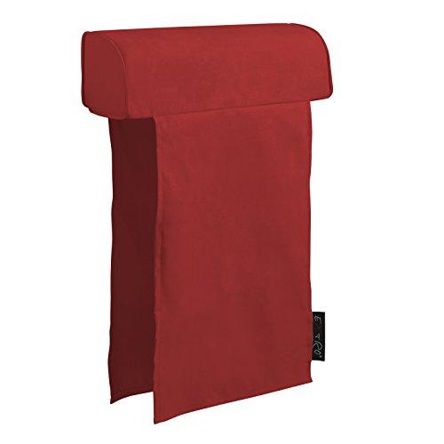 Extroitaly felipe rosso poggiatesta per divano rivestito in tessuto microfibra con doppia fascia mis.cm.60 x diametro cm.16 fascia cm.70 largh.45