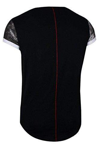 trueprodigy Casual Herren Marken T-Shirt mit Aufdruck, Oberteil cool und stylisch mit Rundhals (kurzarm & Slim Fit), Shirt für Männer bedruckt Farbe: Schwarz 1072145-2999 Black