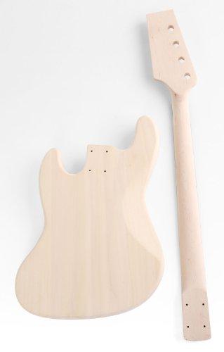 """Rocktile DIY JB Bausatz E-Bass (""""Do-it-yourself"""" E-Bass Bausatz, JB-Style, Korpus: Linde, Hals: Ahorn geschraubt, Griffbrett: Palisander)"""