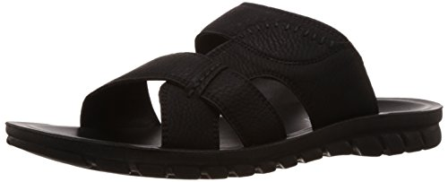 FLS (By Franco Leone) Men's Black Sandal And Floaters - 8 UK/42 EU  available at amazon for Rs.225