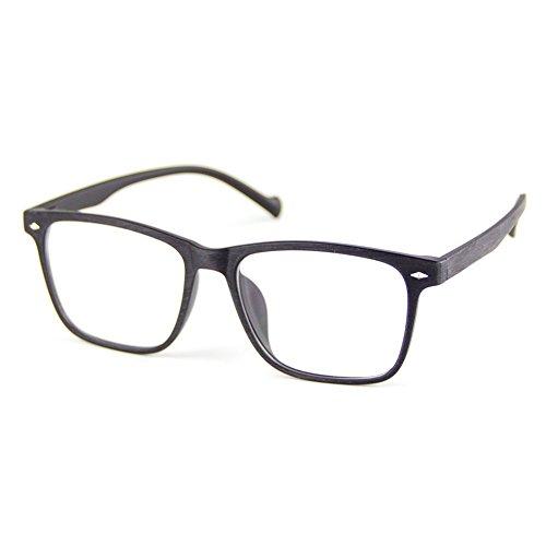 Cyxus TR90 licht flexibel blaue licht blockieren brille bildschirmbrille schützt die augen [transparente linse] anti augen ermüdung Besserer Schlaf (Mattschwarzes Holzkornrahmen)