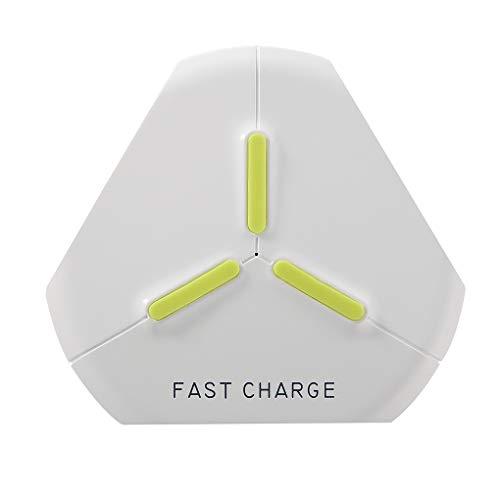 Republe Q500 Fast Charger Qi Wireless-Ladegerät kompatibel mit 10W 7,5 W 5W Ersatz für IOS Ersatz für Android Phones -