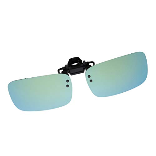 sharprepublic Sonnenbrillen-Clip Polarisierte Linse, Unisex-Sonnenbrille Frameless Brillen Clip für Myopia Glasse/Outdoor/Driving - Cyan