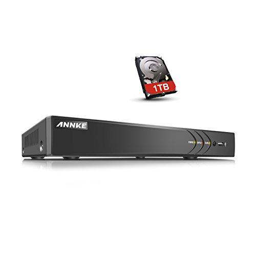 ANNKE CCTV TVI DVR Recorder Videoüberwachung 8CH 3.0MP Netzwerk Digital Video Recorder H.264 für Videoüberwachung Aufzeichnungsgerät Bewegungserkennung Fernüberwachung mit 1TB überwachungfestplatte