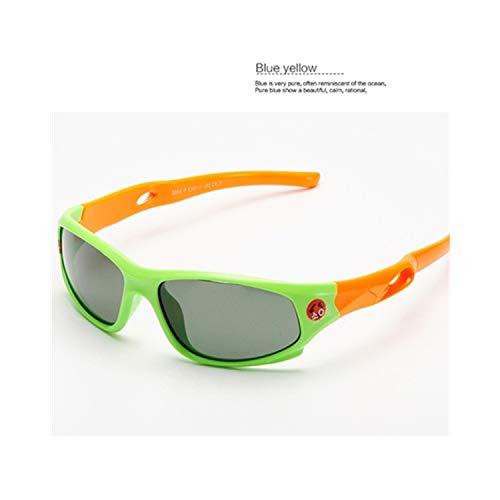 Vikimen Sportbrillen, Angeln Golfbrille,Cute Baby Polarisiert Sunglasses Kids Child Girls Boys Sport Goggles TR90 Polaroid Sun Glasses Shades Infant Oculos S816 Red