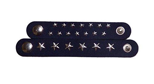 Schal Halstuch Verschluss Schließe Knopf Schnalle Clip Sterne Strass Schwarz Set (Sterne Dunkelblau) (Tuch Knoten-knopf)
