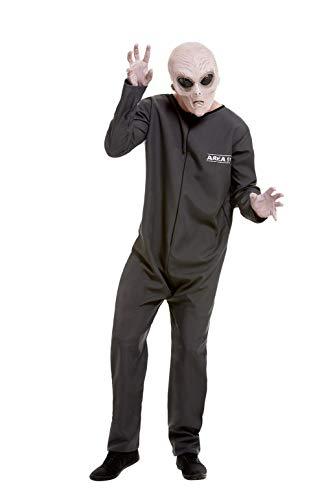 Smiffys 51063L Area 51 Hazmat Anzug, Herren, Grau, Größe L (106,7-111,8 - Hazmat Anzüge Kostüm