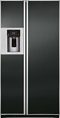 iomabe ORE 24 CGF KB 200 integriert 572l A+ Schwarz Kühlschranktür Seite - ide-by-Side-Kühlschrank (integriert, schwarz, amerikanische Tür, LED, Tür aus Glas)