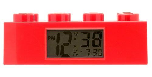 Lego Kinderwecker Wecker Legostein rot, Kunststoff, Red, 9002168