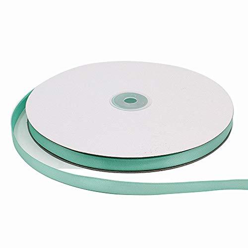 Satinband, einseitig, 2,5 cm breit x 100 m, modisch, multifunktional, Hochzeitsdekoration, tiffany blue, 2/5