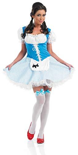 Fancy Me Damen Sexy BO Peep Goldlöckchen Dorothy Märchen Kostüm Kleid Outfit UK 8-26 Übergröße - Dorothy, 12-14 (Goldlöckchen Kostüm Damen)