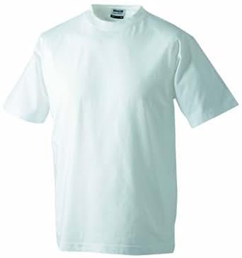 James & Nicholson Lot de 2 t-shirts Round Heavy pour homme Blanc Blanc XXX-Large