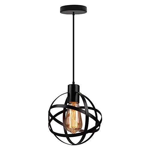 Vintage Globus - Lámpara colgante de metal industrial, pantalla de ...