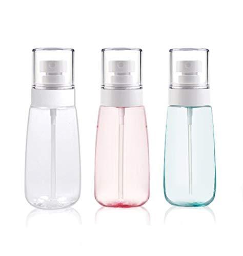 d70512cad002 Clear Fine Mist Spray Bottle, Fukalu 3 Pcs Plastic Refillable Transparent  Empty Atomizer Fine Mist Spray Bottle Travel Bottles Set (60 ML/2 Oz)