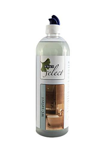 Sanitärreiniger WC-Reiniger-Gel Badreiniger entfernt hartnäckige Kalkablagerungen, Urinstein Rost und Algen, HWR Select 750 ml -
