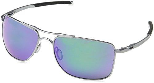 Oakley Herren Gauge 8 412404 62 Sonnenbrille, Schwarz (Matte Lead/Jadeiridium),