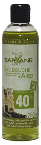 Preisvergleich Produktbild Saryane: Aleppo Duschgel, 250ml mit Dosieröffnung - parfümfrei, trockene, reife & empfindliche Haut