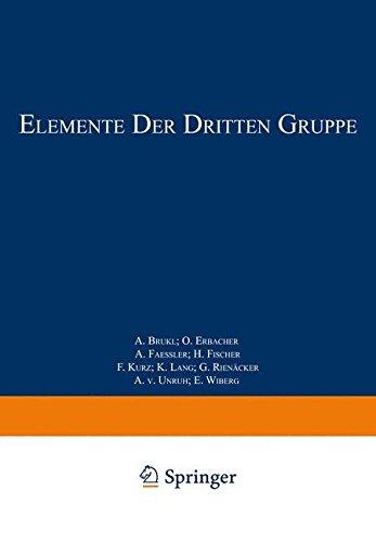 Elemente der Dritten Gruppe: Bor · Aluminium · Gallium · Indium · Thallium · Scandium · Yttrium · Elemente der Seltenen Erden Lanthan_Cassiopeium ... Chemie   Handbook of Analytical Chemistry)