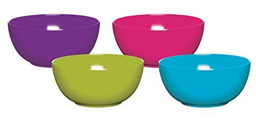 Kitchen craft, set 4 ciotole in melamina, 15 cm, colori assortiti