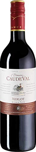 6x 0,75l - 2018er - Domaine CaudeVal - Merlot - Pays d\'Oc I.G.P. - Languedoc - Frankreich - Rotwein trocken
