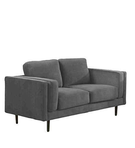 Sedex Neapel Designercouch/Polstergarnitur/Polstercouch/Couch 2-Sitzer Kunstleder Hellgrau
