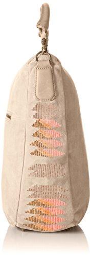 Liebeskind Berlin Niva Embroidery/suede Leather, Sacs portés épaule Ivoire - Elfenbein (light powder 2004)