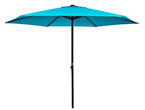 HERMO Roun Regenschirm, 2,7 m, für den Außenbereich, Grün