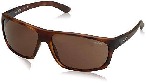 Arnette Sonnenbrille Burnout Matte Dark Havana 237573, Braun (Matte Dark Havana 237573), 64