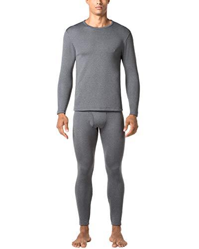 Lapasa uomo set termico invernale ad alta densità maniche lunghe confezione regalo m24 (large, grigio scuro)