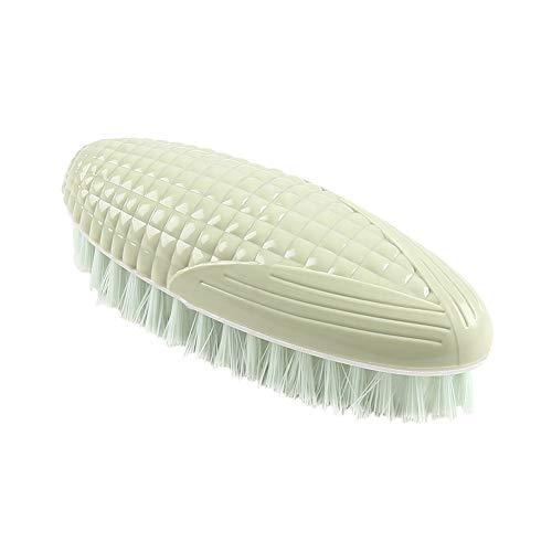 s Form Bürste Fester Kunststoff Reinigungsbürste zum Waschen von Kleidung Schuhen Hausarbeit Grün Home Zubehör ()