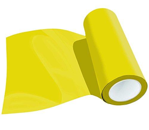 (29,80 EUR/m²) Poli-Flex Premium Flexfolie Meterware 30,5cm 41 Farben Textil-Bügelfolie, Farbe:Zitronengelb