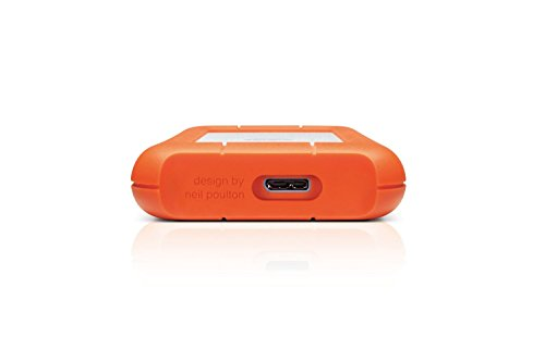 LaCie Rugged 1 TB USB 3.0 Mini Disk Portable Hard Drive 301558