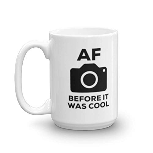 AF Before It Was Cool Blurry Photography Auto Focus Coffee & Tea Gift Mug for Photographers and Hobbyists (15oz)