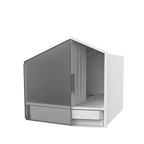 TangMengYun Vaso for lettiera for Gatti semichiuso Forma for casetta Toilette for Gatti Moda ABS Deodorante Vaso for Sabbia antispruzzo Bacino for Gatti