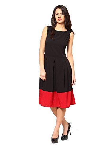 Women\'s Dress ( Black Dress_Cotton_Free Size )