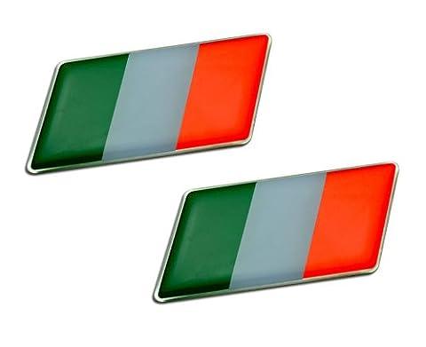 2 x (Pair/Set of 2) ITALIAN ITALY FLAG Emblem Badge Nameplate Decal Rare for Maserati A6 A6G A6G54 3200 GTB 3500 GT Touring Spyder Vignale Mistral 3500 5000 GTI Quattroporte 2 3 II III Royale Frua Sebring 3700 4000 Mexico 4200 4700 Ghibli SS Indy Europa 4200 4700 Khamsin 4900 Bora 4.7 4.9 Merak SS 4porte Kyalami Biturbo E S 425 Zagato 2.5 E S 228i 420i 425i 430 Si 422 2.24V 4.18v 4.24v 222E Karif Racing Barchetta Stradale Coupe GS Grand Sport V MC12 MCC GranTurismo GranCabrio