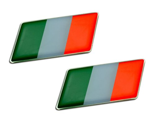 2 x (Pair/Set of 2) ITALIAN ITALY FLAG Emblem Badge Nameplate Decal Rare for Ferrari 512 BBi F512 F355 F50TR 308 GTB Quattrovalvole GTBi GTSi 456 456M GTA 458 599 GTO 208 GTB GTS Turbo Fiorano 328 GTS GTO GTB M Dino 246 308 612 Scaglietti F430 Spider 348 Competizione GTS 355 GTS Berlinetta 355 Berlinetta 550 575M Maranello Enzo F1 Spyder Mondial 8 Cabrilet 3.2 TS 360 Modena F1 430 Scuderia 16M Challenge Stradale Testarossa Superamerica 612 Sessanta SA Aperta 412 F40 348 TB TS 365 GT4 BB GTC4 2+2