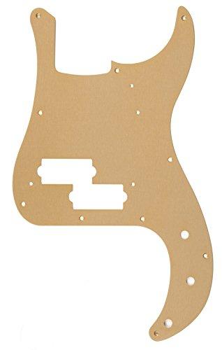 Fender 009-5634-049 Pure Vintage 10-Hole Mount 1-Ply Gold Anodized '58 Precision Bass Pickguard