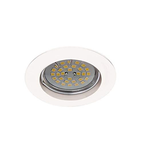 Wonderlamp W-E000024 Basic Basic - Foco empotrable redondo fijo, color blanco [Clase...