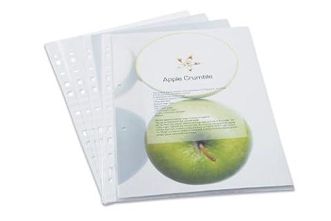 Rapesco ECO Klarsichthüllen DIN A4 (100 Stück) (Raccoglitore Ad Anelli Files)