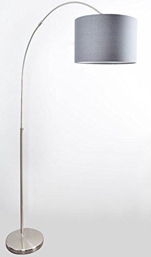 Bogenleuchte Stehlampe P461100111 Stoffschirm Loft