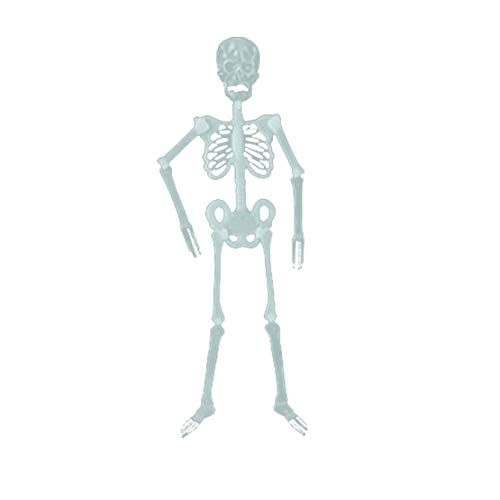 happy event Halloween Requisiten Leuchtende Menschliche Skelett Hängende Dekoration Für Party Im Freien (C - 30cm)